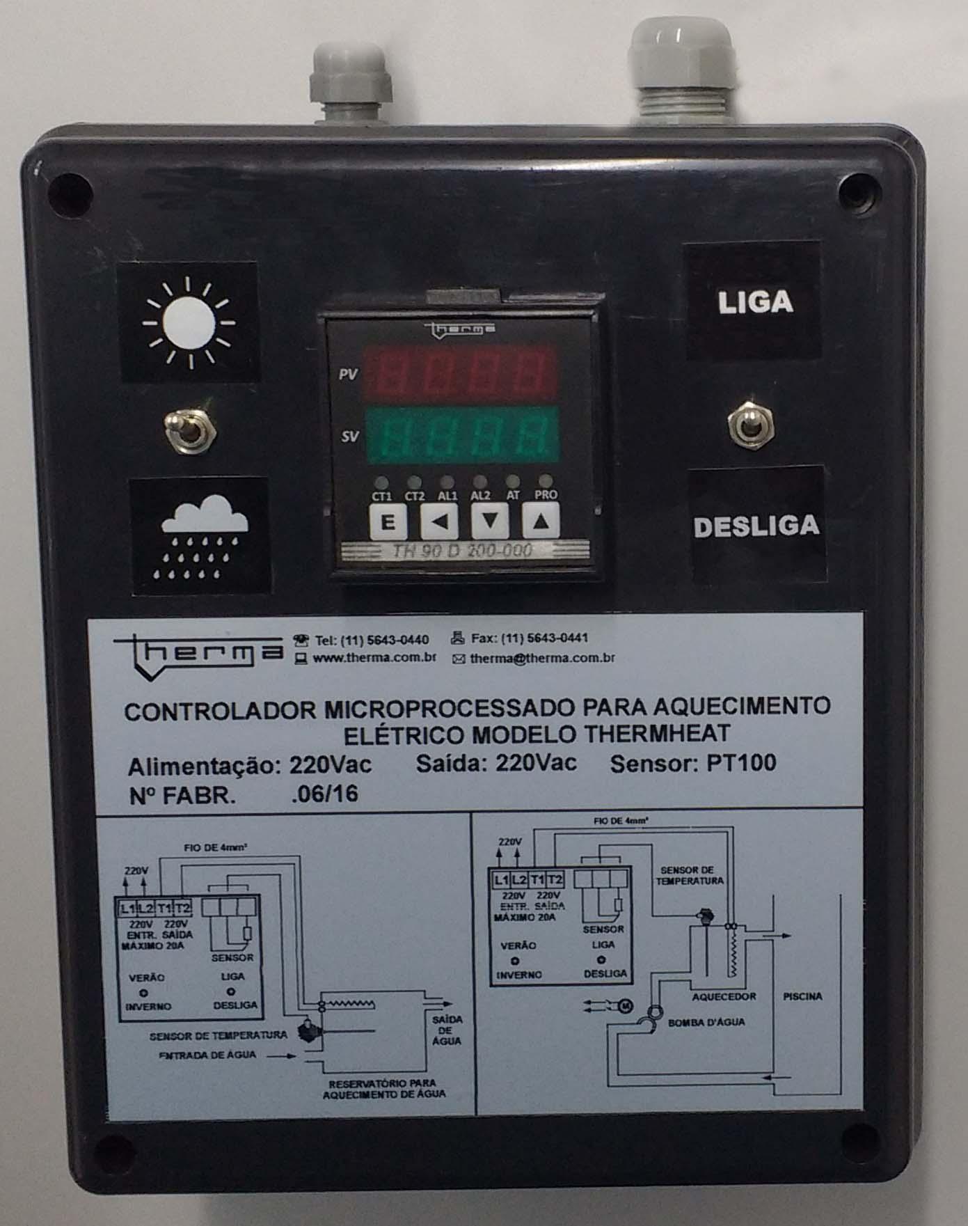 Controladores Microprocessado para Aquecimento Elétrico